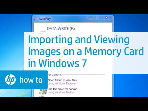 Importing and Viewing Images on a Memory Card in Windows 7