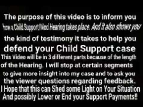 How to get your Child Support Payments Stopped and/or Cut 100% Legit PART 1