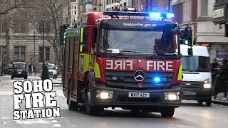[incl. FULL HOUSE TURNOUT] - LFB Soho Fire Station responding x5