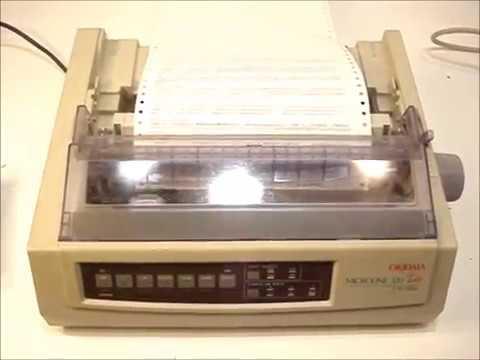 Okidata Microline 320 Turbo 9-Pin Printer GE7000A B2KML320TURBO Self-Test