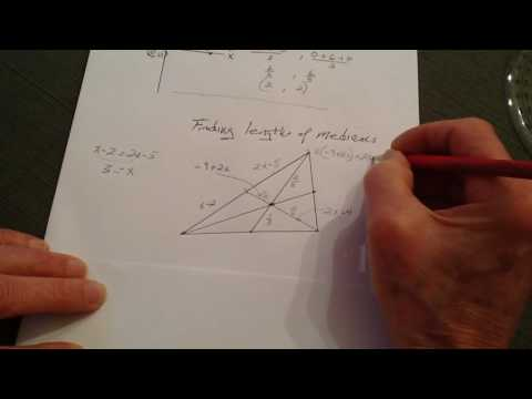 Finding the centroid and lenghts of medians