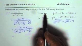 Determine Horizontal Asymptotes For The Radical Function