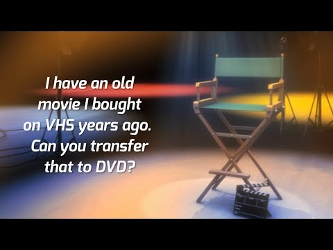Can you transfer a commercial video tape to DVD? | Morrison Video Productions