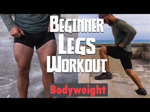 Leg Training Routine for Beginners | Bodyweight Only
