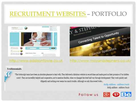 Bespoke, Fully Responsive Recruitment Website Design Agency London