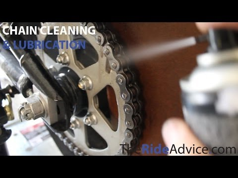 How to Clean Motorcycle Chain - Lubricate a Motorcycle Chain