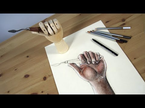 Art Lesson: How to use a Hand Mannequin