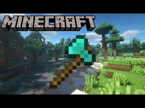 Minecraft - How To Build a Diamond Axe Statue
