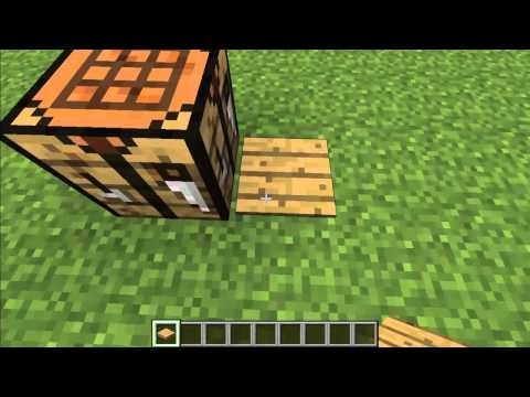 How to Make a Wood Pressure Plate in Minecraft