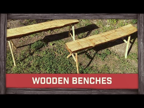 How To Build Wooden Benches!