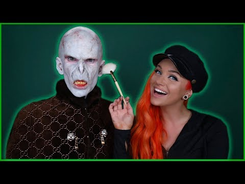 LORD VOLDEMORT MAKEUP TRANSFORMATION feat. GLAM&GORE