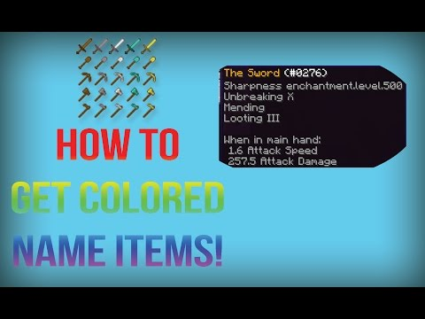 Minecraft: How to get colored name items! [NBTExplorer]
