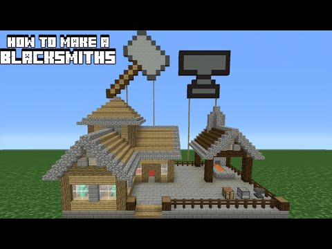 Minecraft Tutorial: How To Make A Blacksmiths