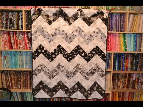 EPISODE 43 - Fast and Easy and Half Square Triangle Chevron Quilt Tutorial