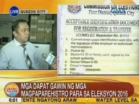 UB: Comelec, naghahanda na para sa unang araw ng voters' registration