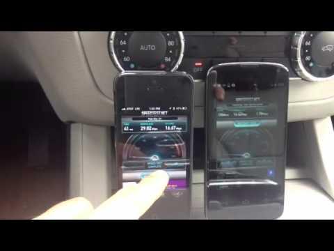Nexus 4 vs iPhone 5 4G Speed Test