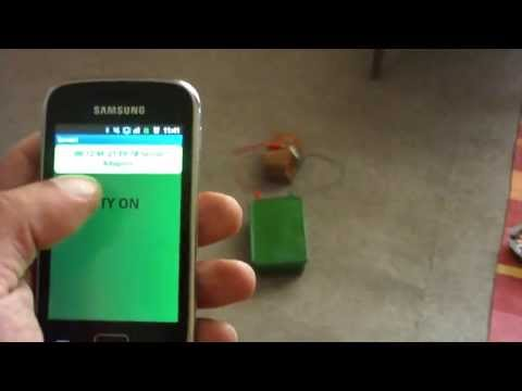 wireless igniter controlled from a mobile phone