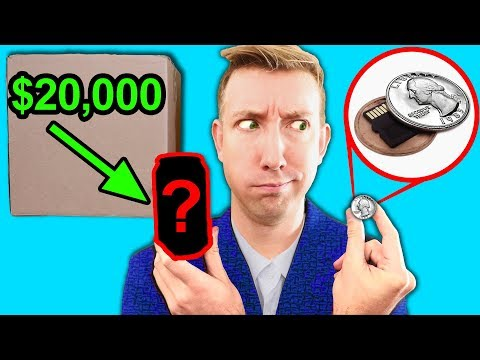 SPY GADGETS in REAL LIFE - $20,000 EBAY MYSTERY BOX Challenge Unboxing Haul!