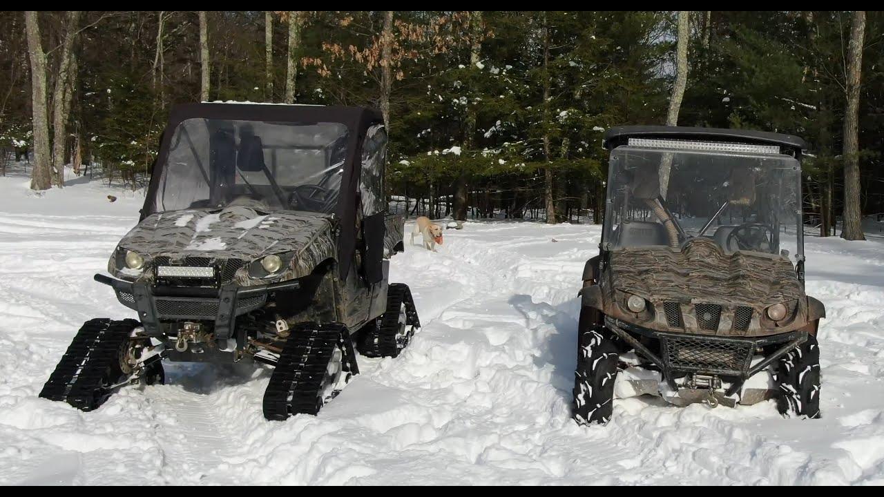Tracks vs tires in snow