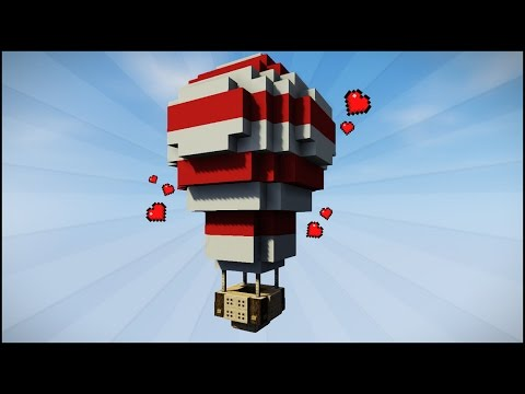 Minecraft: How to Build a Hot Air Balloon (Easy Tutorial)