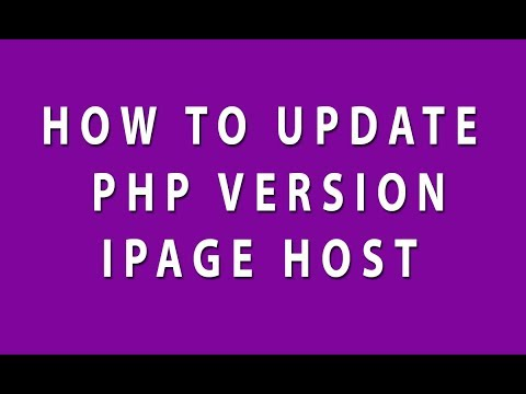 How to update or change PHP version on Ipage - Increase PHP Memory Limit On Ipage - Upload File Size