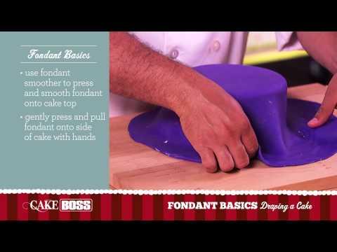 How To Drape a Cake - Fondant Basics Part 3 - Cake Boss Baking