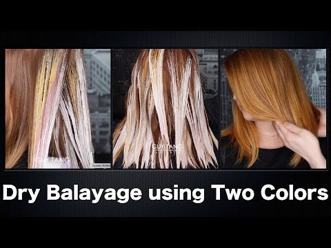 How to Dry Balayage using Two Colors