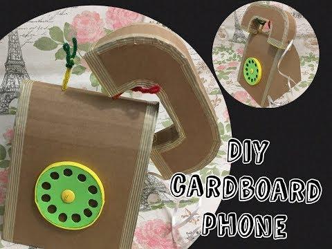Diy cardboard Rotary phone for kids