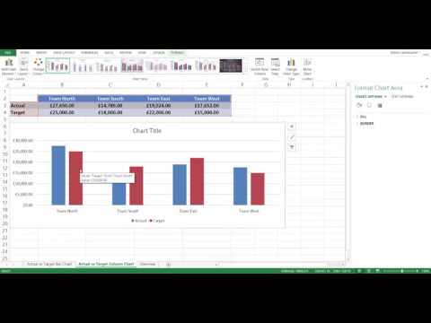 Producing charts in excel