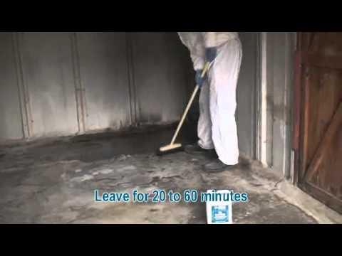 How to apply a Water Based Oil Remover on Your Garage Floor