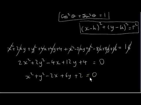 Parametric Equations of a Circle - Examples
