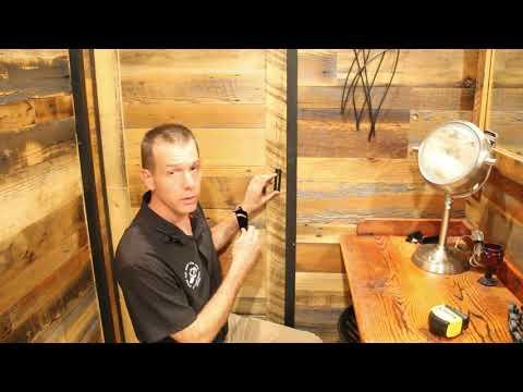 Barn Door Privacy Lock Installation on Bathroom