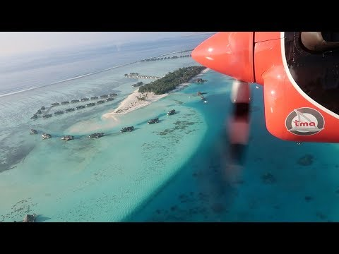 MOST EPIC FLIGHT IN THE WORLD - Maldives seaplane transfer
