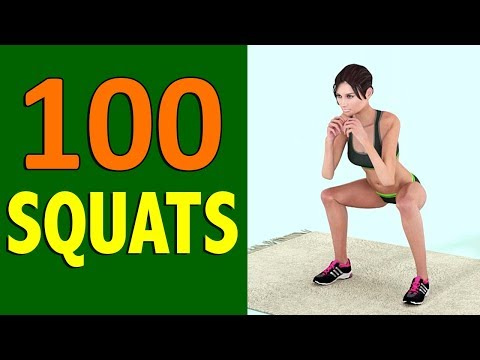 100 Squats Challenge [Round Butt + Burn Fat + Toned Legs]