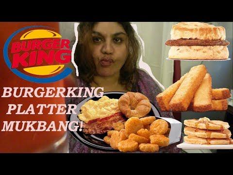 BURGERKING  BREAKFAST PLATTER REVIEW MUKBANG EATING SHOW