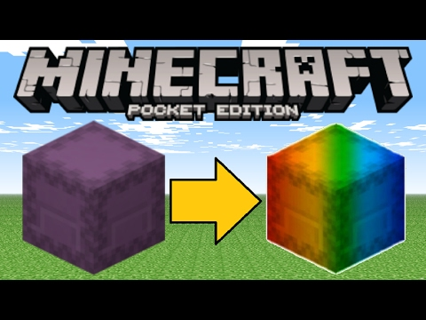 Minecraft PE - How To Make A Rainbow Shulker! (Colorful Shulker Trick!)