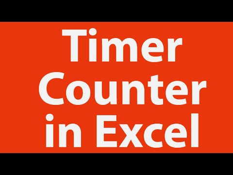 How to Create Timer-Counter Using Excel VBA