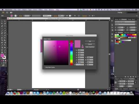 Illustrator CS 6 Tutorial - Color Swatches and Gradients