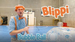 Blippi Plays Bubble Ball And Learns About Opposites | Fun Activities For Kids