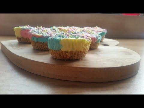 How to make No bake mini unicorn cheesecakes