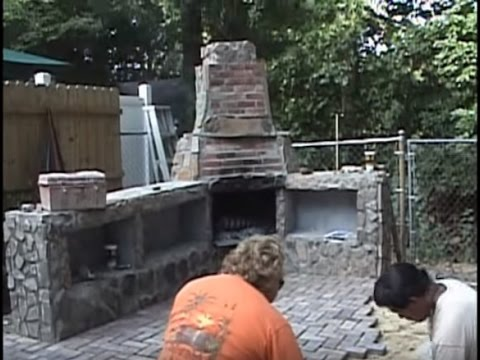 Construction of my Outdoor Fireplace