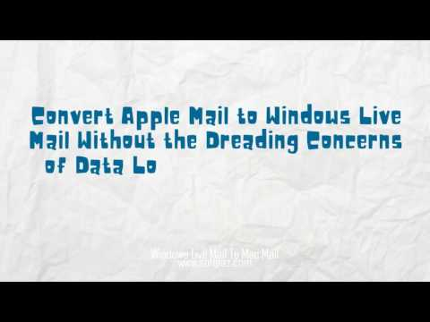 Windows Live Mail To Mac Mail free download!