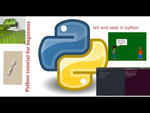 file tell and seek in python ||Python Tutorial #17 || Python Tutorial for Beginners