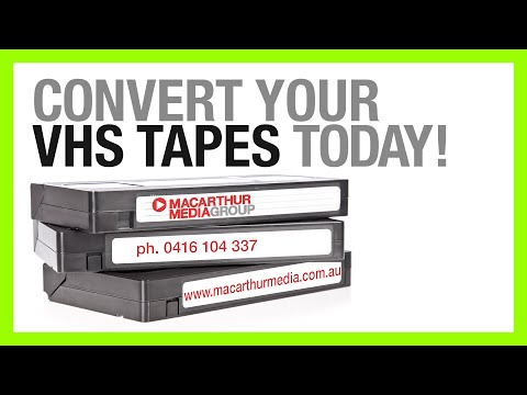 Convert VHS to DVD or USB