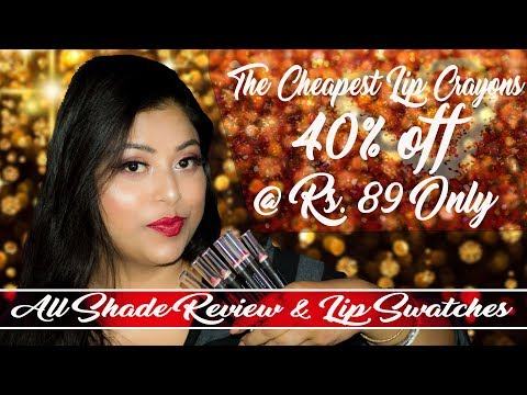 Best Lip Crayons Just For Rs 89 Better Than Lakme | Swatches And Review | Indian Makeup