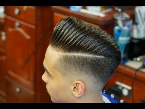 Bald Fade Tutorial: Pompadour with a Hard Part