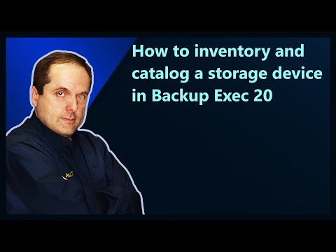 How to inventory and catalog a storage device in Backup Exec 20