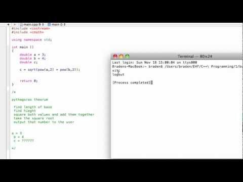 Write a program to solve Pythagorean theorem (C++ programming tutorial)