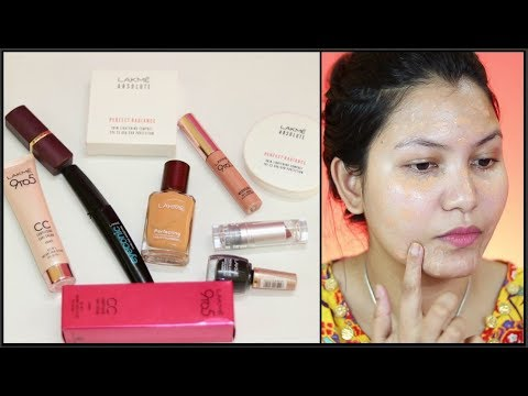 Makeup Using Lakme Products |One brand makeup | Indian makeup tutorial  | INDIANGIRLCHANNEL TRISHA