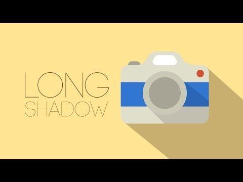 Tutorial Long Shadow com Photoshop usando Pen Tool